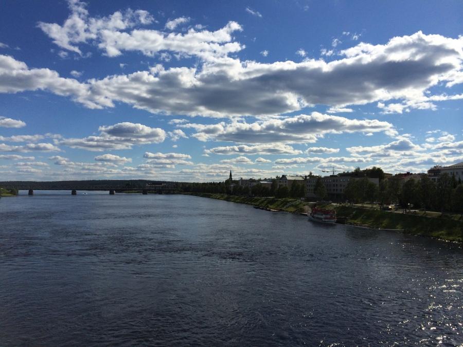 Photo from an iPhone 5S, Fisherman's Bridge, Rovaniemi Finland
