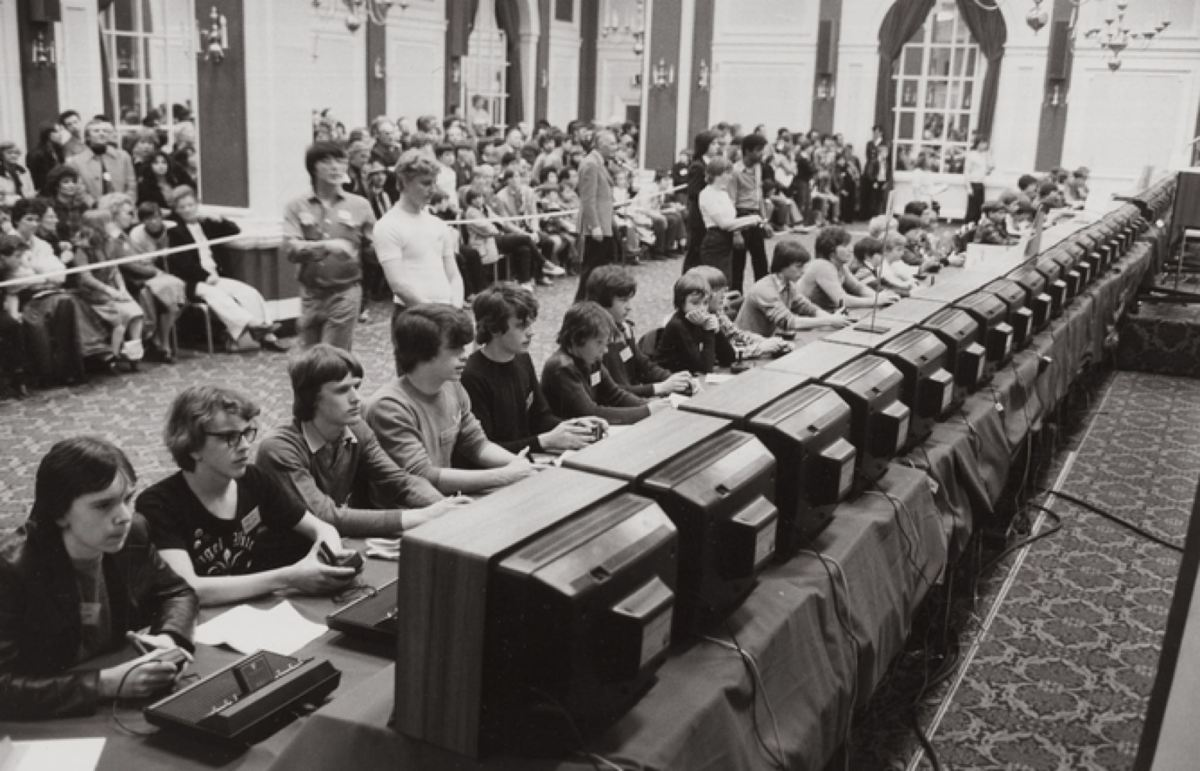 At the 1980 Space Invaders National Championship